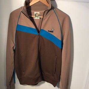 Men's VOLCOM original 9 track jacket tan blue L